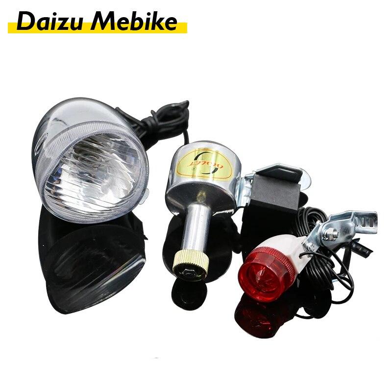 Luz impermeable para bicicleta de montaña, linterna de Banco de energía, faro...
