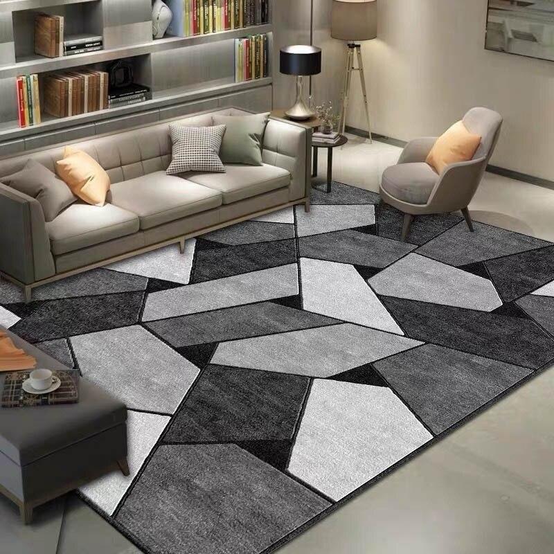 هندسية مطبوعة السجاد البساط لغرفة المعيشة قابل للغسل غرفة نوم منطقة كبيرة السجاد الحديثة الطباعة سجادة أرضيات للمنزل صالون حصيرة