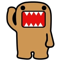 10x12cm funny car stickers domo jdm sticker decal pvc colorful car stickers and decals