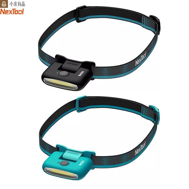 NEXTOOL LED Headlamp Rechargeable Head Lamp Zoom Waterproof Headlight Flashlight Three Light Switch Modes USB Charging Camping