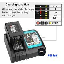2020 DC18RCT Li-ion Battery Charger 3A Charging Current for Makita 14.4V 18V BL1830 Bl1430 DC18RC DC18RA Power tool + USB port