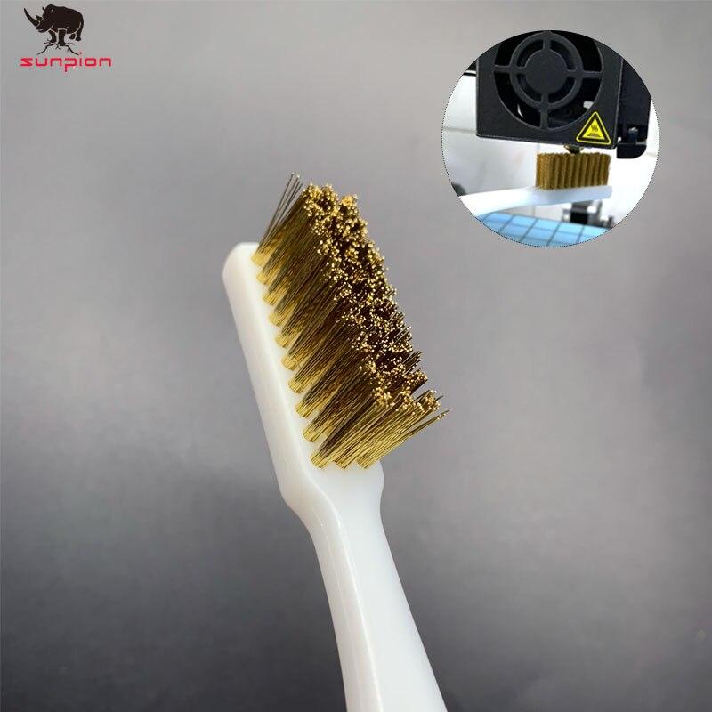 Limpiador de impresora 3D herramienta cepillo de dientes de alambre de cobre mango de cepillo de cobre Limpieza de extremo caliente Limpieza de cama caliente piezas de limpieza para bloque de boquilla