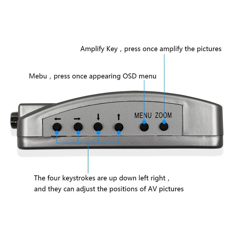VGA To TV AV RCA Signal Composite Adapter Converter Video Switch Box PC To TV AV Monitor Composite for Computer Laptop PC enlarge