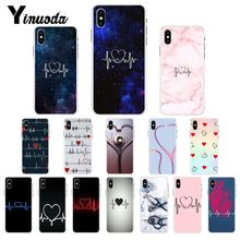 Yinuoda Nurse Medical Medicine Health Heart Pattern TPU Soft Phone Case for iPhone 8 7 6 6S X XS MAX 5 5S SE XR 10 11 Pro Max