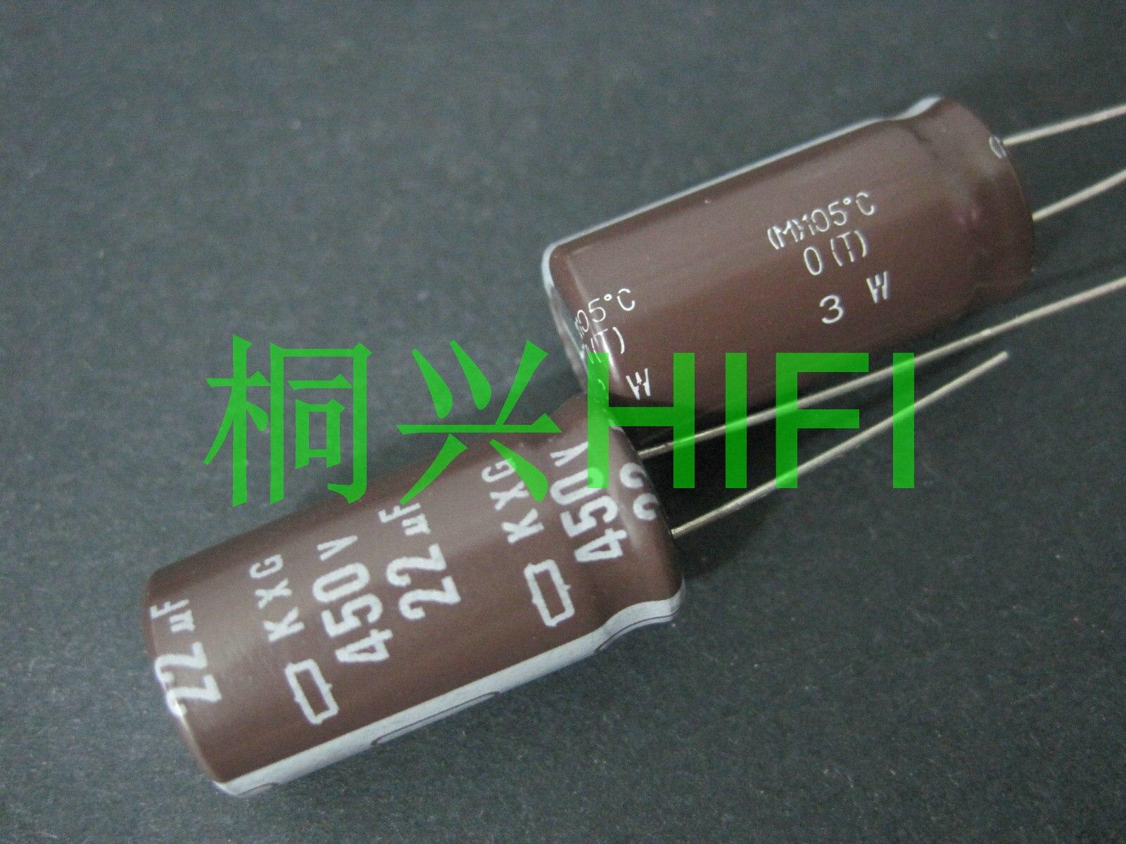 Pcs NEW NIPPON KXG 10 450V22UF 12.5x25MM NCC 450v 22uf Capacitor eletrolítico UF 450V CHEMI-CON 22 22 uf/450 v