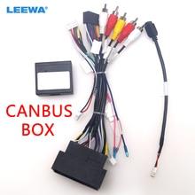 LEEWA voiture 16pin Android câblage harnais câble USB avec Canbus pour Jeep Cherokee 15 ~ 19/boussole (17 +)/Grand commandant/Renegade