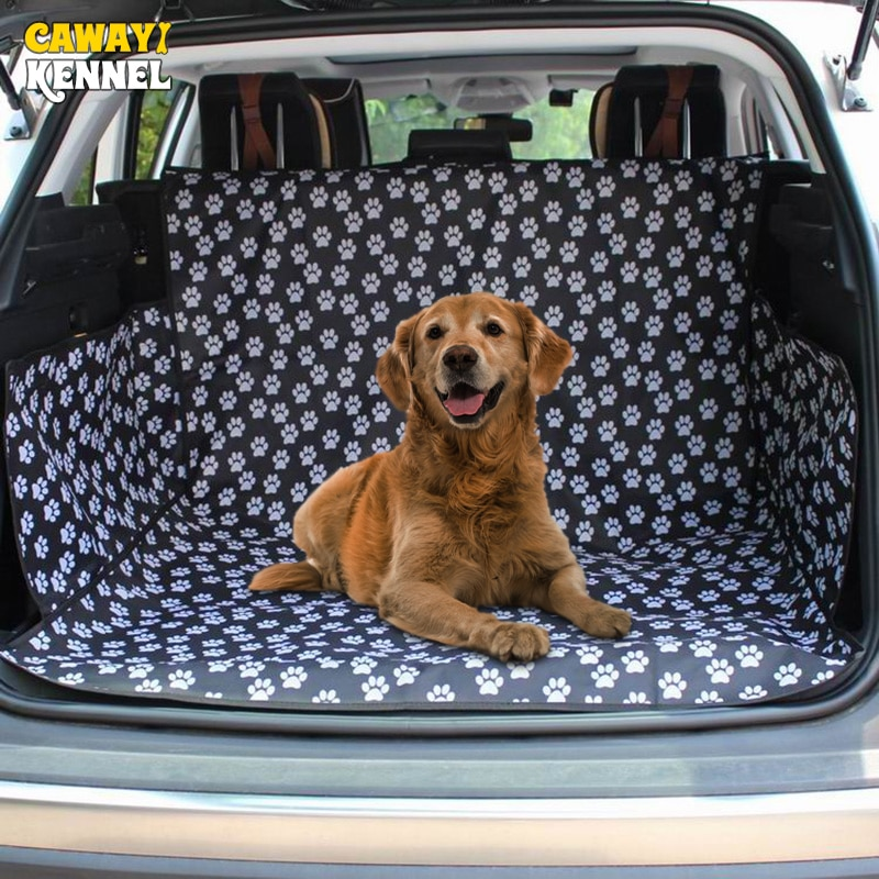 CAWAYI KENNEL Pet Carriers Dog Car Seat Cover Trunk Mat Cover Protector Carrying For Cats Dogs trans