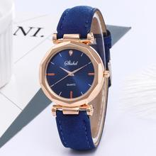 Ladies Analog Quartz Wrist Watch Fashion Women Leather Luxury Watch Female Solid Casual Dress Crysta