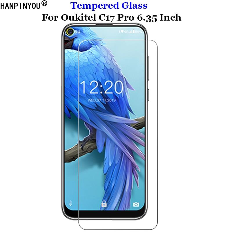 "Para oukitel c18 pro vidro temperado 9 h 2.5d premium filme protetor de tela do telefone para oukitel c18pro 6.55"""