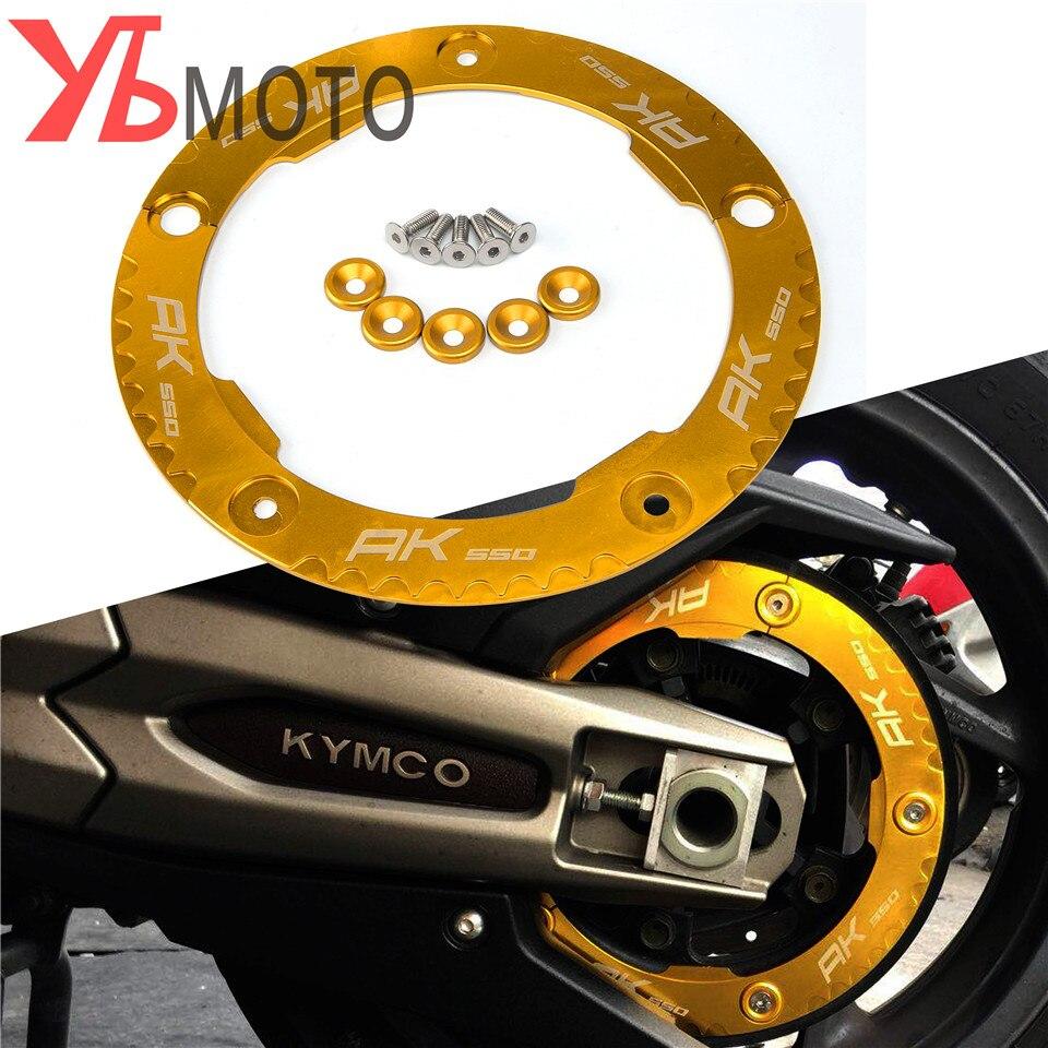 אביזרי אופנוע אלומיניום שידור חגורה גלגלת מגן כיסוי עבור KYMCO AK550 AK 550 2017 2018 2019 2020