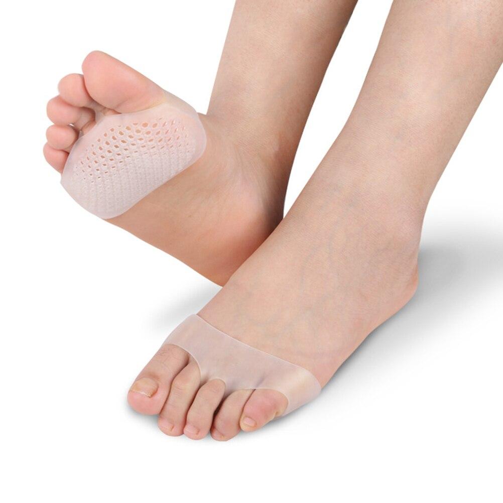Paar Gel Toe Separator Bunion Splint Beehive Geformt Forefeet Hülse Kissen Mittelfuß Pads Für Feet Pain Relief