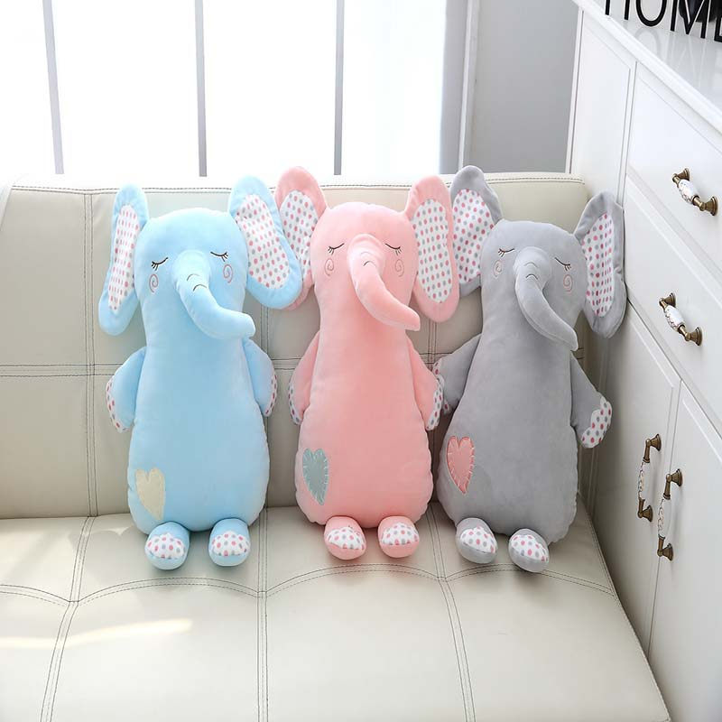 1pc ins kawaii elephant suffed animals cute plush elephant dolls plush toys comforting baby soft elephant baby room decoration one amazing elephant