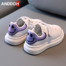 Size 21-30 Kids Casual Soft Bottom Sport Sneakers for Girls Boys Children Wear-resistant White Shoes