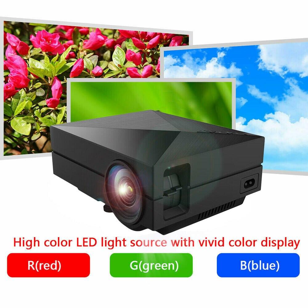 GM60 Mini Portable Home Cinema Theater LED Projector HD 1080P HDMI AV USB VGA Professional Double Shooting Protecting 1000LM