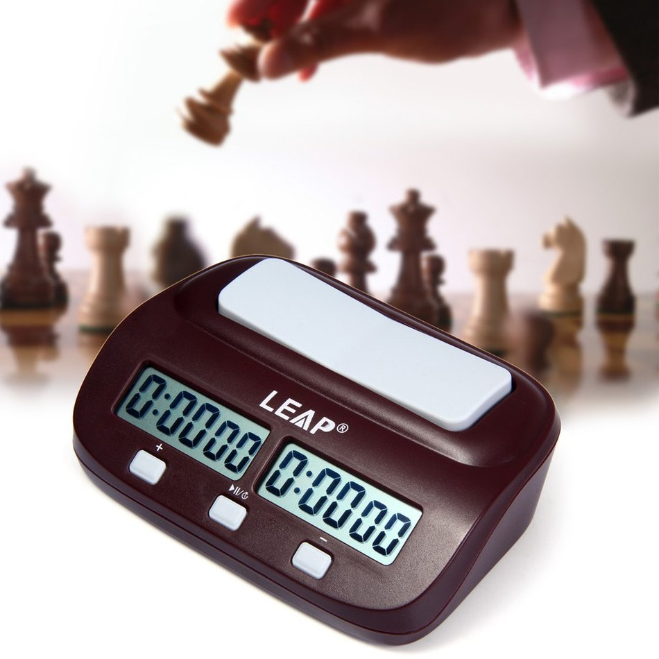 LEAP Digital Professional Chess Clock Count Up Down Timer Sports Electronic Chess Clock I-GO Competi