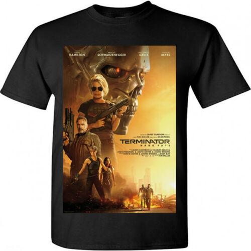 Terminator oscuro destino cartel de película de cine negro 2019 camiseta tamaño S, M, L, Xl, 2Xl