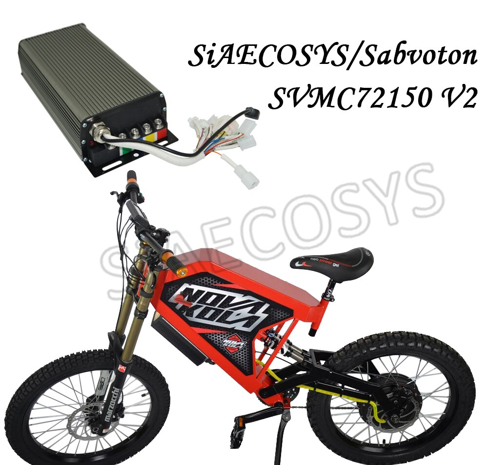 Sabvoton SVMC72150 V2 Controller For 3000w 72V 150A Electric Bicycle Motor With Bluetooth Adapter enlarge
