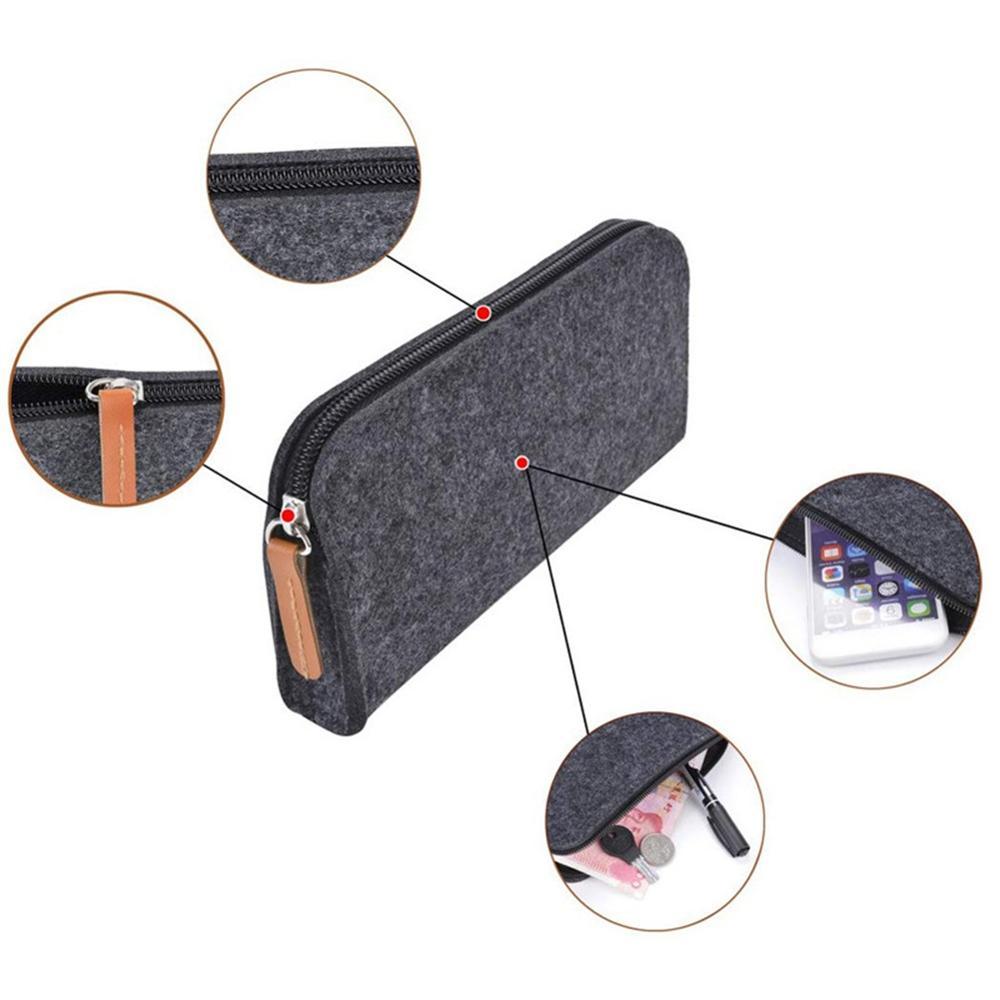 Industriel multifonction feutre crayon stylo étui cosmétique maquillage poche à monnaie sac à fermeture éclair Portable sac à main école papeterie fournitures de bureau