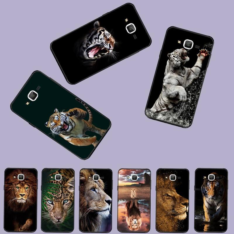 Funda de teléfono de silicona suave TPU tigre león rey del bosque para Samsung J2 J4 J5 J6 J7 J8 2016 2017 2018 Prime Pro plus Neo duo