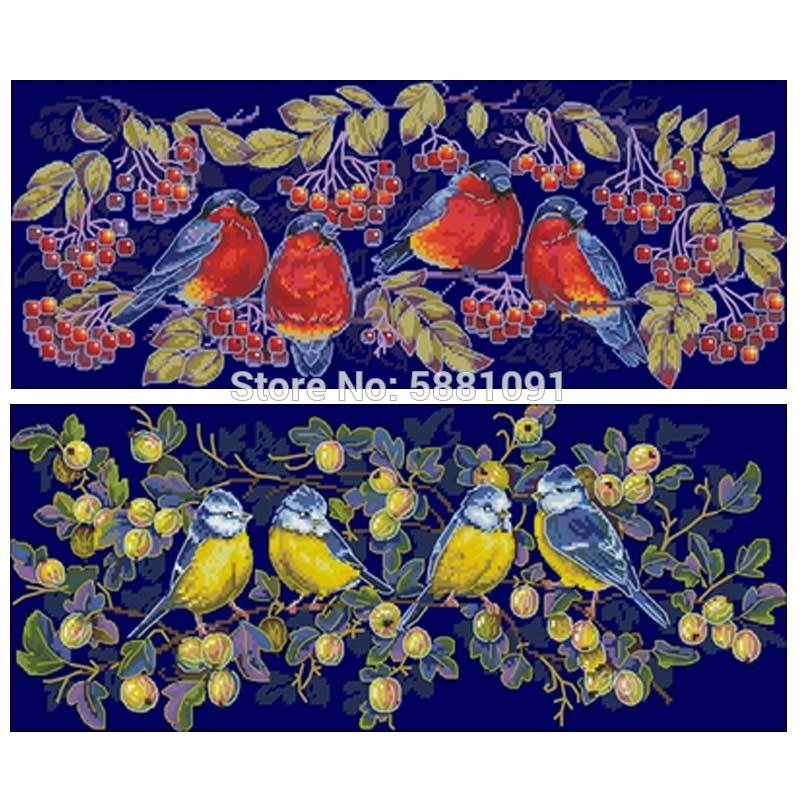 Red Sparrow and tit birds patterns Counted Cross Stitch 11CT 14CT DIY Cross Stitch Kits Embroidery Needlework Sets home decor stamped cross stitch kits joy sunday oil painting girl printed 11ct 14ct counted home decor embroidery handmade needlework sets