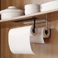 non perforated stainless steel paper towel holder rack toilet kitchen roll paper holder self adhesive kitchen toliet accessories