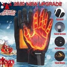 Gants moto hiver thermique complet doigt gants écran tactile hydrofuge Motocross gants anti-dérapant extérieur coupe-vent