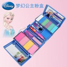 Disney Meisjes Prinses Elsa Anna Bevroren Doos Cosmetische Set Speelgoed Wasbare Make Up Pretend Play Toys