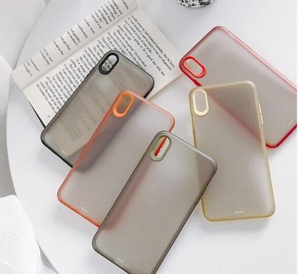 Caja mate del teléfono híbrido Simple para IPhone 11 11pro Max 6 6s Plus 7 8 X Xs Max Xr funda de silicona Tpu suave a prueba de golpes