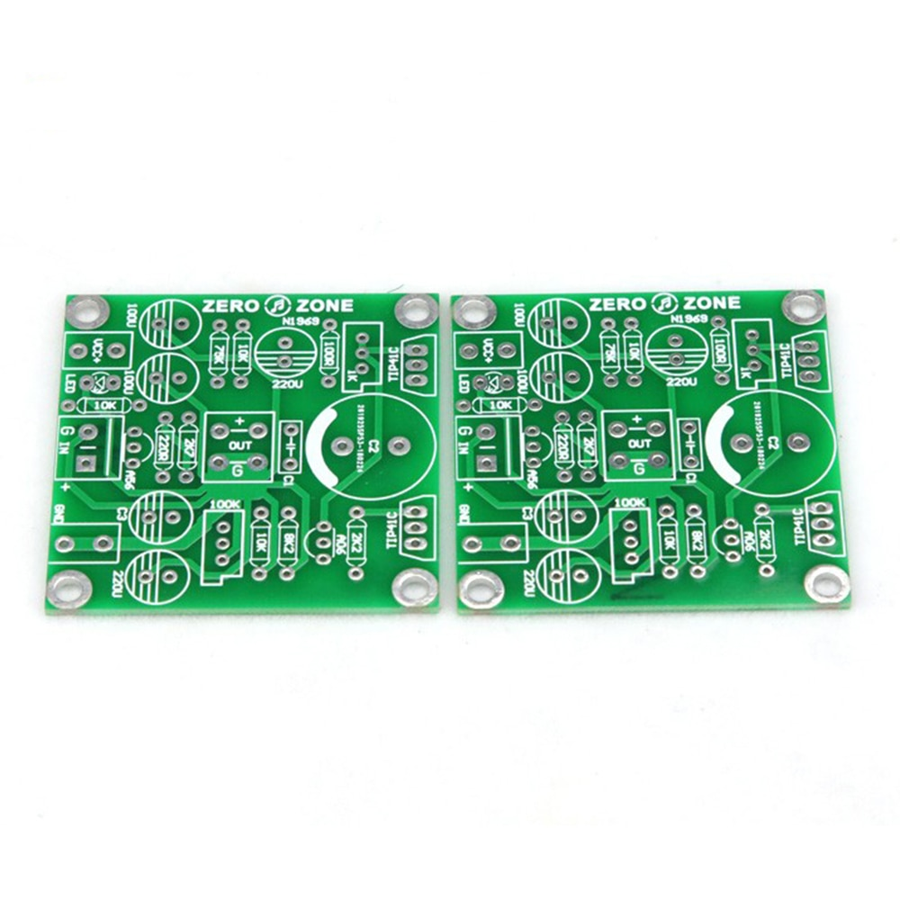 One Pair PCB Board for Classical Version TIP41C JLH1969 12-24VDC Class A Dual Channel Audio Amplifiers Mini AMP Amplifier Board  - buy with discount
