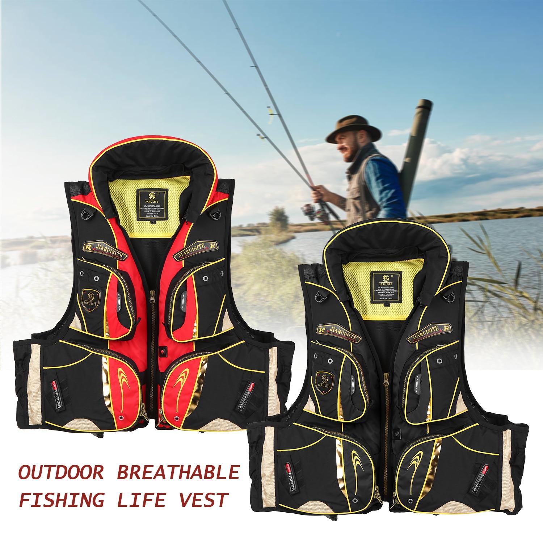 Chaleco salvavidas para nadar y esquiar con múltiples bolsillos, chaleco de flotación para adultos, chaleco de flotación para pesca, deportes acuáticos