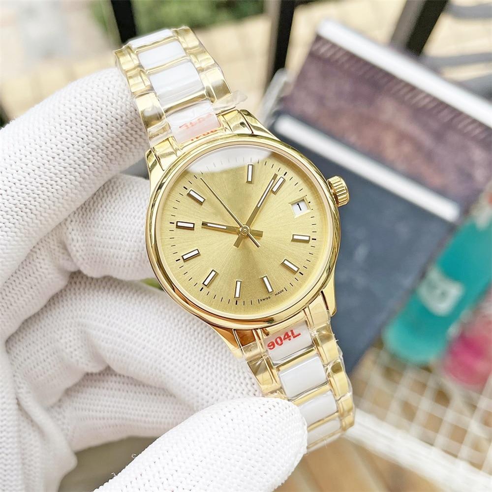 Women's 32mm log diving watch, automatic mechanical watch movement, ceramic bezel, women's diamond-studded sapphire stainless st
