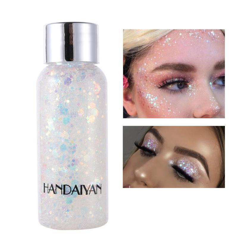Botella desnuda brillante sombra de ojos cuerpo pelo cara ojos brillo maquillaje duradero pescado brillante escala lentejuelas sombra de ojos crema TSLM1