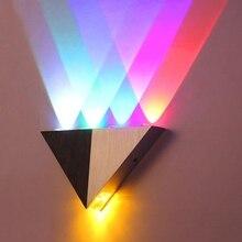 5W Triangle LED Wall Light Sconces Mirror Lamp Backlight Decorative lights LED Corridor light Up Down Wall Lamp Spot Light