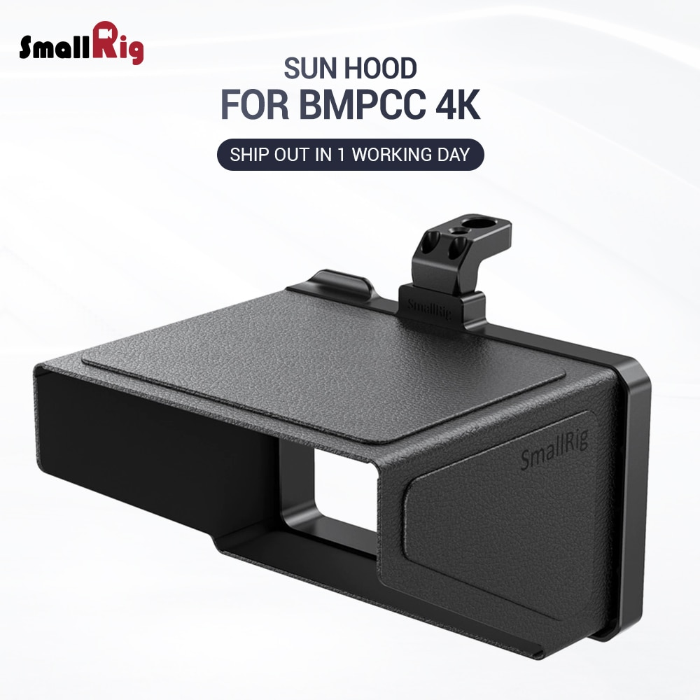 SmallRig BMPCC 4K камера Солнцезащитная Крышка для BMPCC 4K & 6K Blackmagic Дизайн Карманный кинотеатр камера 4K & 6K VH2299