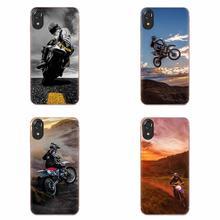Motocross motos pour Huawei Honor Mate 7 7A 8 9 10 20 V8 V9 V10 V30 P40 G Lite Play Mini Pro P étui intelligent en polyuréthane