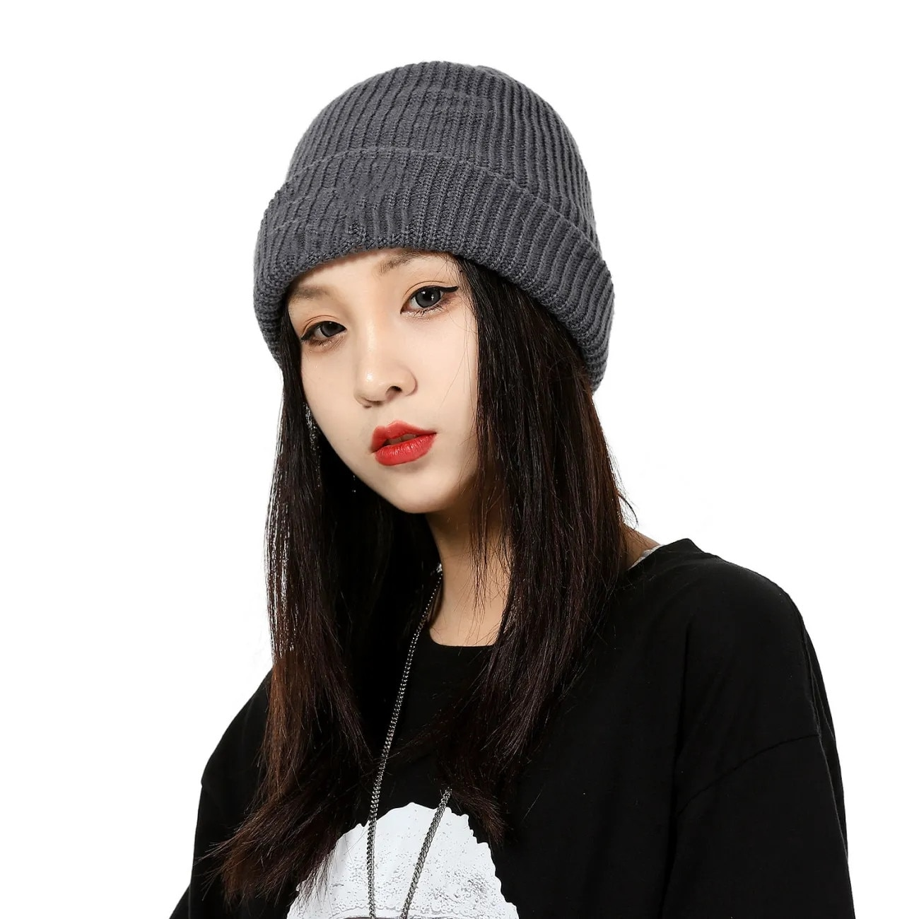COTTON HAT Autumn and Winter Knitted Hat Plush Thickened Couple Warm and Cold Proof Men's and Women's Hat Trend Versatile