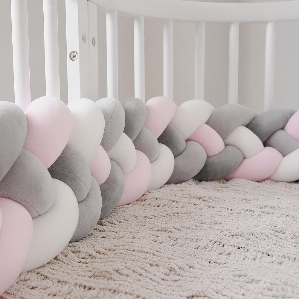 2,2 M Детская кровать бампер узел подушка для мальчиков и девочек четыре косы детская кроватка бампер Защита для кроватки cuna para bebe декор комнаты
