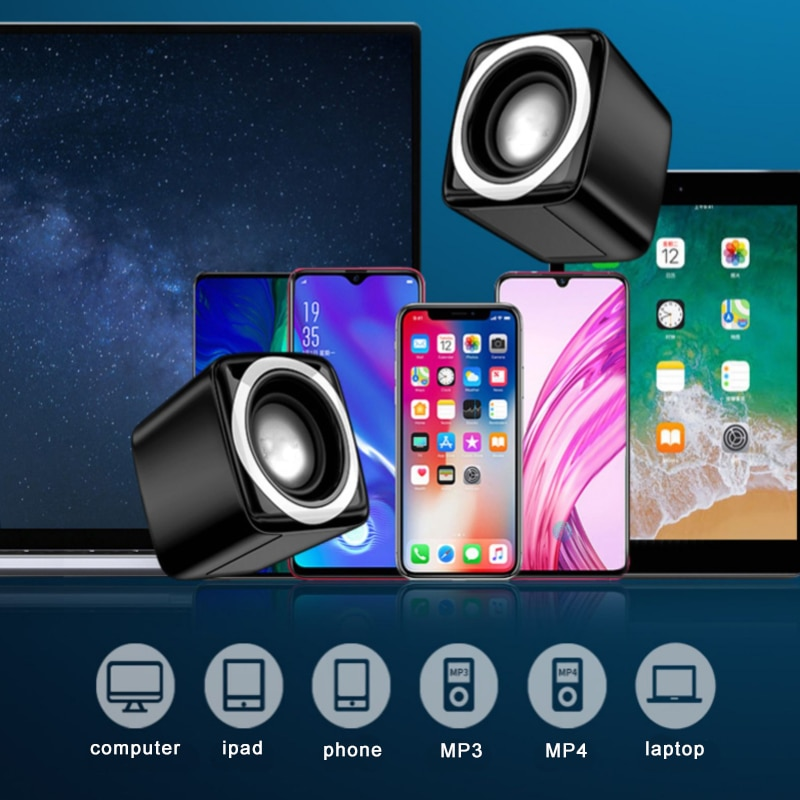 New Mini Desktop Computer speakers with Big subwoofer sound USB wired For computer game office Music speaker Bluetooth speaker enlarge