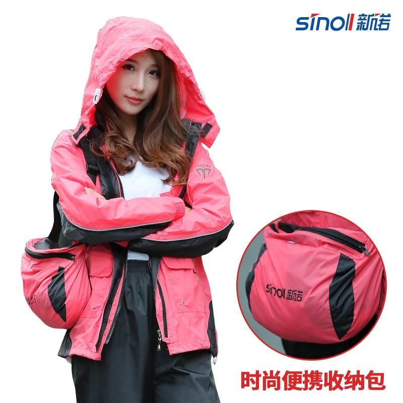 Waterproof Nylon Raincoat Women Pants Set Hiking Outdoor Ladies Hooded Raincoat Vinyl Pink Impermeable Mujer Rain Gear JJ60YY enlarge