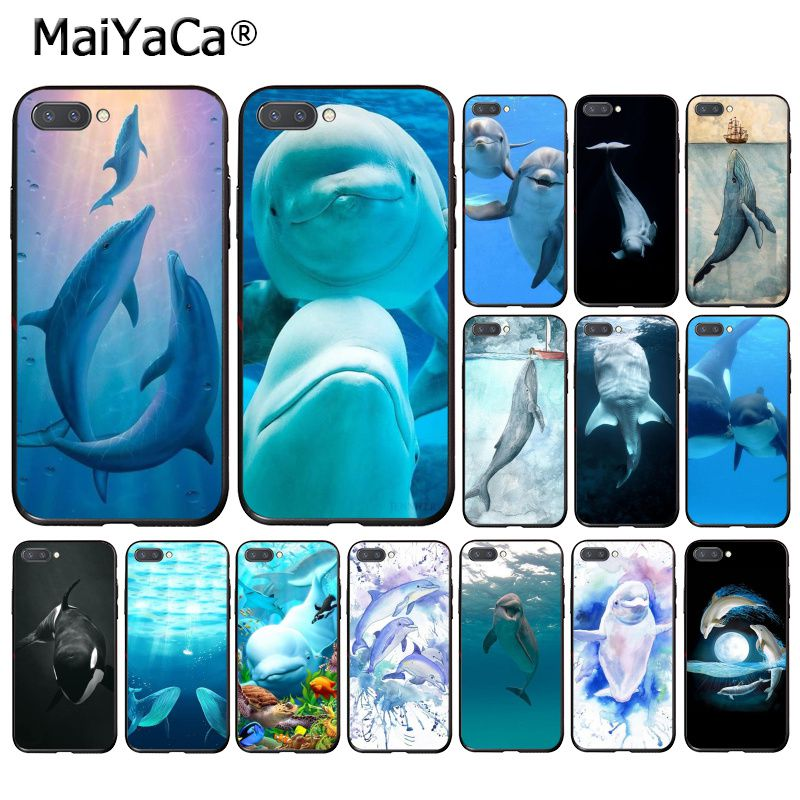 Maiyaca oceano golfinho animal baleia beluga caso de telefone para huawei honra 8x 9 10 20 lite 7a 8a 5a 7c 10i 20i 9x play 8c