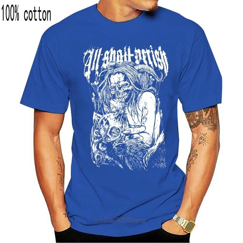 New Authentic ALL SHALL PERISH Band Bird Flu T-Shirt S-3XL 2021 Men T Shirt Print Cotton Short Sleeve T-Shirt TOP TEE PLUS SIZE