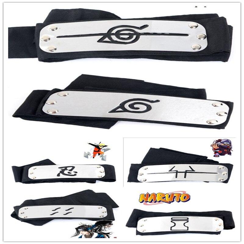 Anime accessoires Naruto cosplay 23 styles Hatake Kakashi bandeau Itachi akatsuki madara personnage vêtements accessoires accessoires écharpe