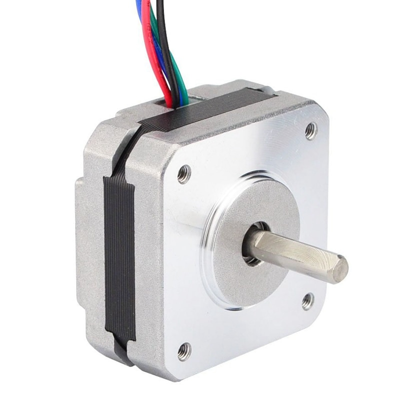 17Hs08-1004S 4-Lead Nema 17 Stepper Motor 20Mm 1A 13Ncm(18.4Oz.In) 42 Motor Nema17 Stepper For Diy 3