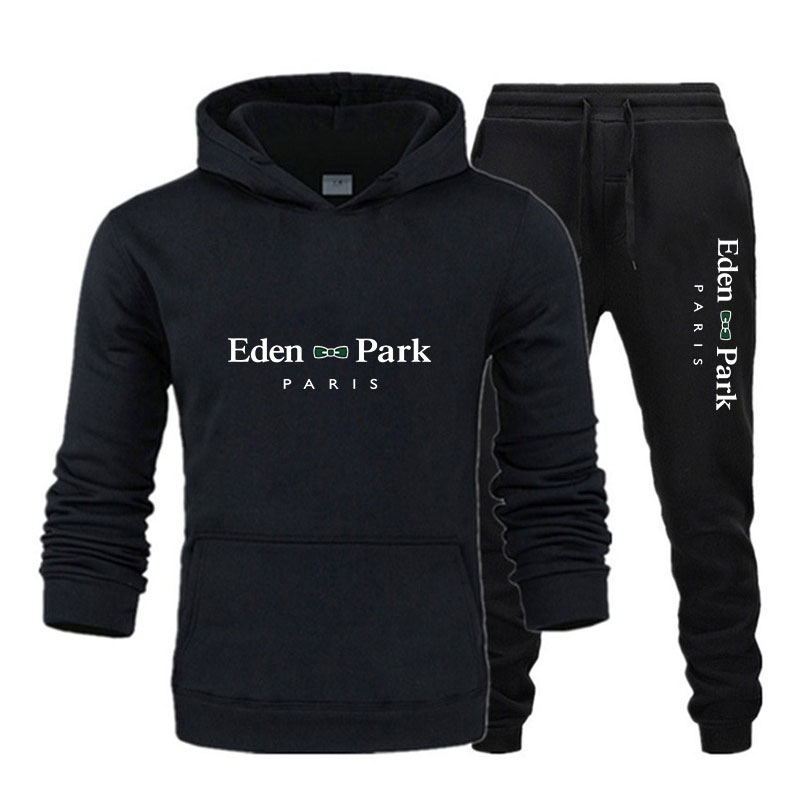 2021 Модные мужские комплекты, Мужские осенне-зимние костюмы, брендовые толстовки и брюки Eden, спортивные костюмы с длинным рукавом, уличная од...