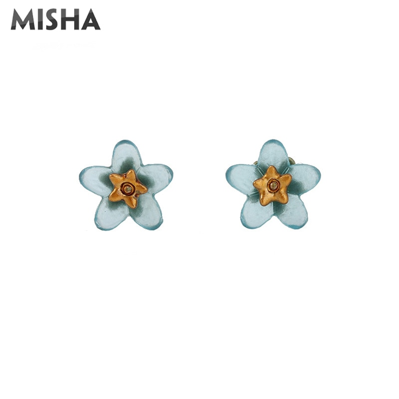 MISHA stylowy kolczyk kolczyki dla kobiet ręcznie zrobiony kwiatek zapomnij o mnie nie stylowe kolczyki piękna biżuteria prezent 02631