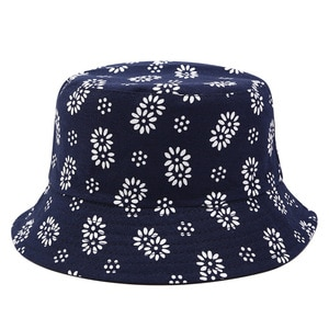 2021 four seasons cotton Flower print Bucket Hat Fisherman Hat Outdoor Travel Sun Cap for Men and Women 367