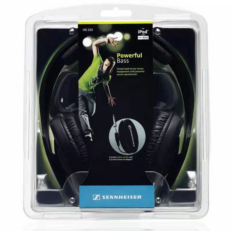 Wire-controlled HD 202 Black Headset Hi-Fi Headset Apt-X Connected To Mobile Phone Headphone Music Earphones enlarge
