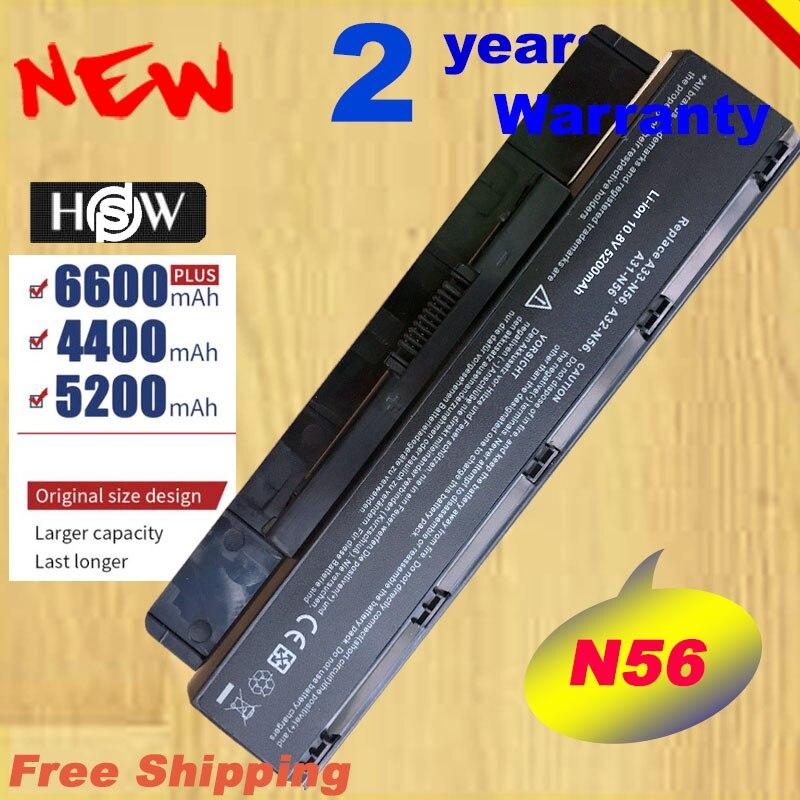 HSW A31-N56 A32-N56 A33-N56 para Asus N56 N56D N56D N56DY N56J N56JK N56VM N56VV N56VZ N56JN N56JR N56V N56VB rápido envío