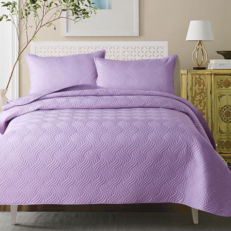 40New البيج الأحمر الأبيض الأرجواني الأزرق 100% القطن مبطن بطانية مريحة حاشية الحصيرة المفرش غطاء سرير أغطية سرير المخدة