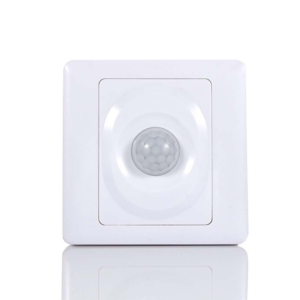 listing 220V Automatic Infrared PIR Body Motion Sensor Switch Wall Mount LED Night Light Suitable for garage, stairs corridor  - buy with discount